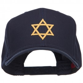 3D Star of David Embroidered Twill Cap