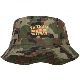Vietnam Veteran Embroidered Bucket Hat