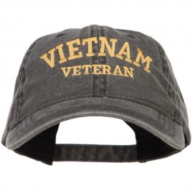Vietnam Veteran Embroidered Washed Cap