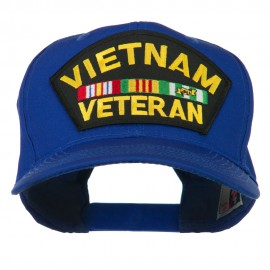 Vietnam Veteran Patched High Profile Cap - Royal