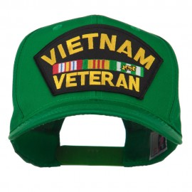 Vietnam Veteran Patched High Profile Cap - Kelly