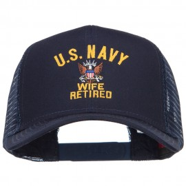 U.S. Navy Wife Retired Embroidered Mesh Cap - Navy