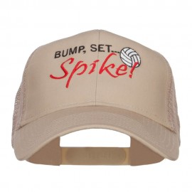 Bump Set Spike Volleyball Embroidered Mesh Cap