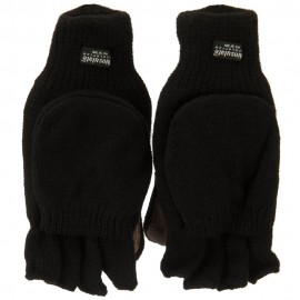 Wool Acrylic Glove Mitts - Black