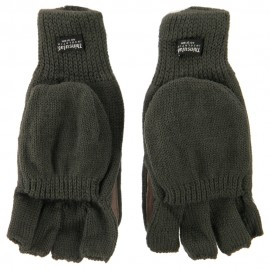 Wool Acrylic Glove Mitts - Olive
