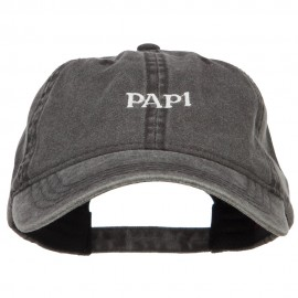 Papi Embroidered Washed Cap