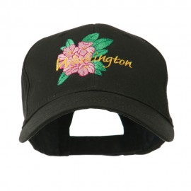 USA State Flower Washington Rhododendron Embroidered Cap