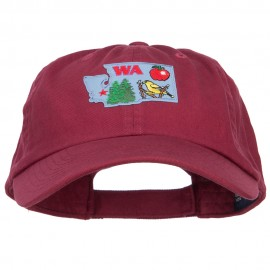 USA State Washington Patched Low Profile Cap