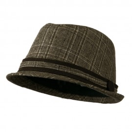 Women's Brown Plaid Fedora