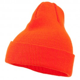 Super Stretch Knit Watch Cap Beanie - Blaze Orange