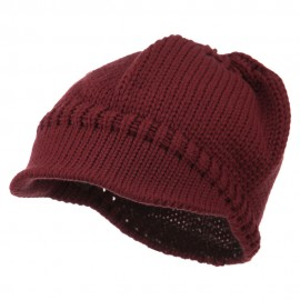 Woman's Knit Soft Beanie Visor
