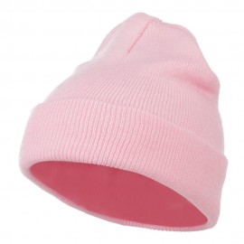 Super Stretch Knit Watch Cap Beanie - Pink