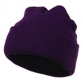 Super Stretch Knit Watch Cap Beanie - Purple