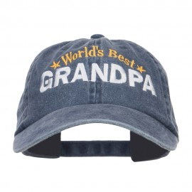 World's Best Grandpa Embroidered Washed Cap