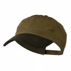 Waxed Cotton Canvas Cap - Tan Brown