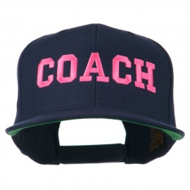 Women's Coach Embroidered Flat Bill Cap