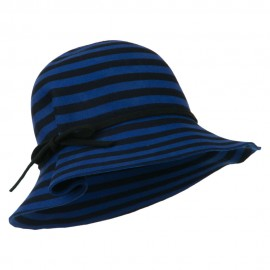 Striped Wool Felt Cloche