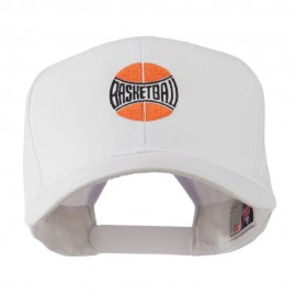 Basketball with Wording Inside Embroidered Cap Cap