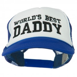World's Best Daddy Embroidered Foam Mesh Back Cap