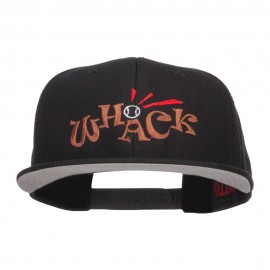 Baseball Whack Embroidered Snapback Cap
