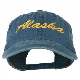 Western State Alaska Embroidered Washed Cap - Navy
