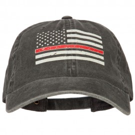We Serve Red Line Flag Heat Transfers Printed Washed Cotton Twill Cap