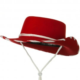 Stitched Child Wool Felt Cowboy Hat