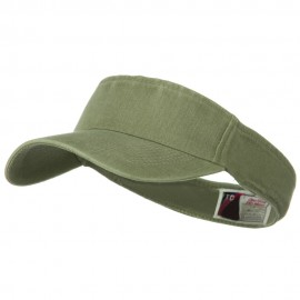 Washed Pigment Dyed Cotton Twill Flex Sun Visor