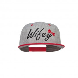 Wifey Ribbon Embroidered Flat Bill Snapback
