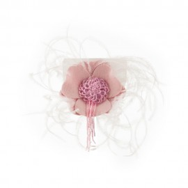 Women's Genuine Flower Feather Pin