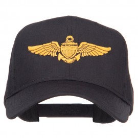 US Navy Wing Embroidered High Cap - Black