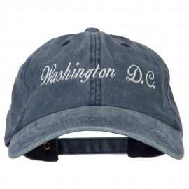 Washington D.C. Embroidered Washed Cotton Twill Cap