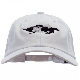Wild Horses Embroidered Unstructured Cotton Twill Washed Cap