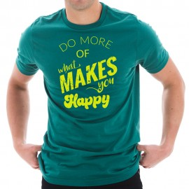 Do What Makes You Happy Phrase Graphic Design Short Sleeve T-Shirt