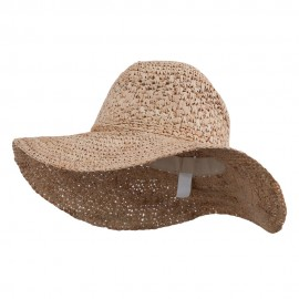 Women's Raffia Straw Sun Hat