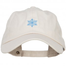 Snowflake Embroidered Unstructured Washed Cap