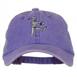 Walking Mummy Embroidered Unstructured Cotton Cap