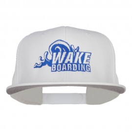 Wake Boarding Embroidered Flat Bill Cap