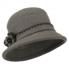 Women's Boiled Wool Large Brim Bucket Hat