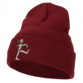Walking Mummy Embroidered Long Beanie