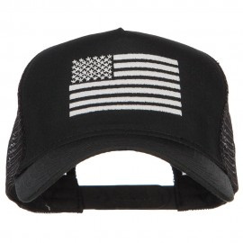 USA White Line Flag Embroidered Mesh Cap
