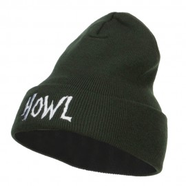 Halloween Howl Embroidered Long Beanie