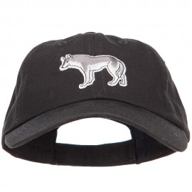 Wolf Wild Animal Patched Low Profile Cotton Cap