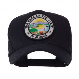 US Western State Seal Embroidered Patch Cap - Alaska