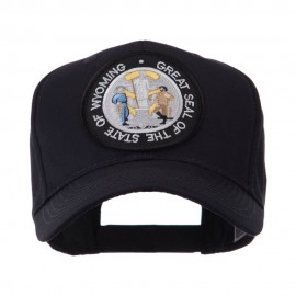 US Western State Seal Embroidered Patch Cap - Wyoming
