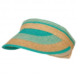 UPF 50+ Women's Paper Braided Stripe Design Visor