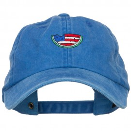 Watermelon USA Flag Embroidered Unstructured Cap