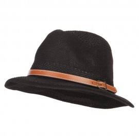 Women's Knitted Panama Short Brim Fedora Hat