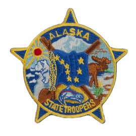 Western State Police Embroidered Patches - AK Troopers