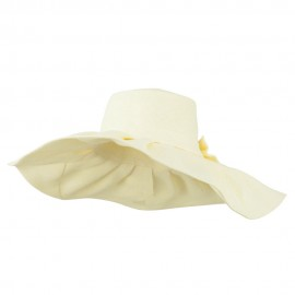 Women's Woven Paper Bow Hat - Cream